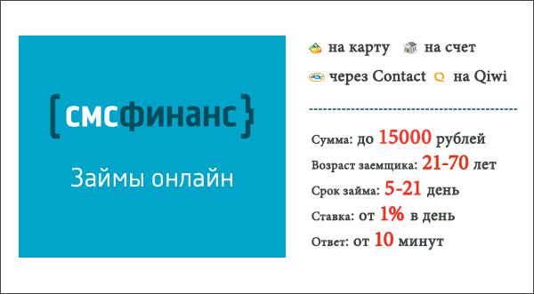 Микрозайм СМС Финанс